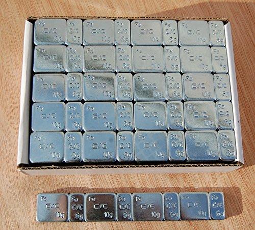 SW-Trade Germany 100 KLEBEGEWICHTE 5g+10g Auswuchtgewichte 6Kg Kleberiegel Verzinkt KG061-Z (100x) Abrisskante