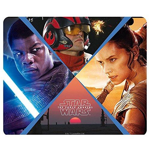 Star Wars–Alfombrilla para ratón Rey–Finn–PoE–Episodio 7Heroes–23x 19cm