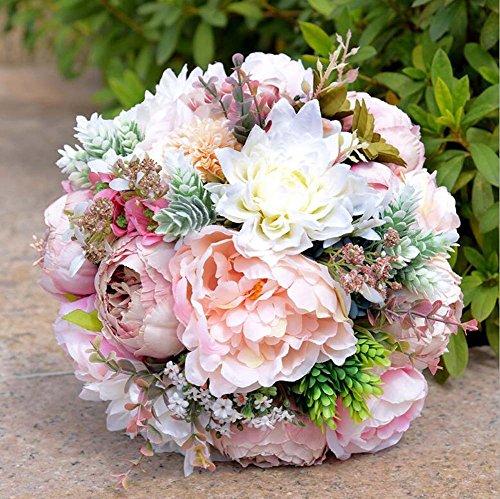 Vintage künstliche Blumen gefälschte Pfingstrose Blumen Bouquet glorreichen Hochzeit Home Bridal Dekoration