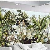 L22LW carta da parati La Carta Da Parati 3D Foto Murales Verdi Palme Da Cocco E Piante Tropicali, Pittura Ad Olio Sfondo,200Cm*140Cm(H)