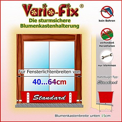 Vario-Fix Standard Haltebügel für 15cm Blumenkasten mit 40cm Spannstange