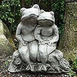 Bud Grenouille en pierre pour décoration de jardin à main/Statue/Sculpture