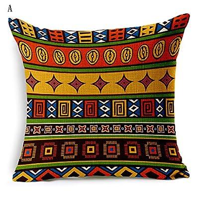 HOME UK-African National Wind Wohnzimmer Kissen Sofa gestreiften Kissen B¨¹ro Kissen Bettw?sche aus Baumwolle 18*18inch von HOME UK - Gartenmöbel von Du und Dein Garten