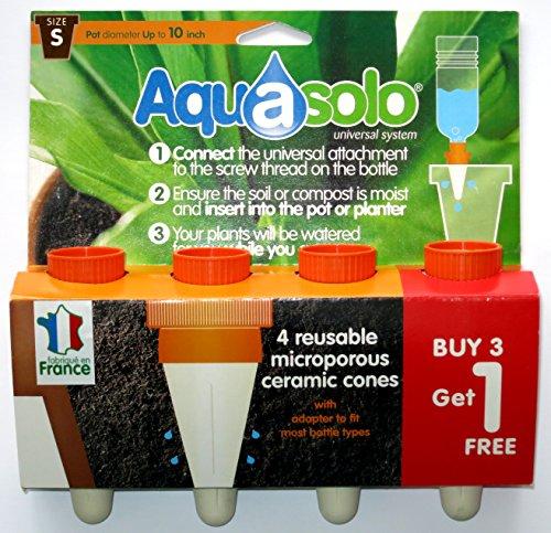 aquasolo-10407-conos-dosificadores-de-riego-para-plantas-4-unidades-tamano-pequeno-color-naranja