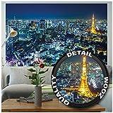 Great Art Poster Tokyo City Murale Decorazione Skyline di Tokyo di Notte Metropoli Tokyo Tower Panorama Fotografia Japan Decorazione Viaggio per Le Città del Mondo - Fotomurales by (140 x 100 cm)