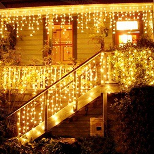 216 LED 5M Eisregen/Eiszapfen Lichter, LED Lichtervorhang Lichter, Weihnachtsdeko...