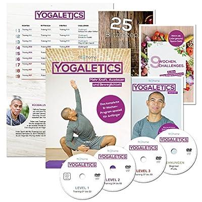 YOGALETICS: Premium Edition - Das komplette 9-Wochen-Programm speziell für Anfänger (4 DVDs + 3 Booklets + 1 Poster + Gratis Online-Stream)