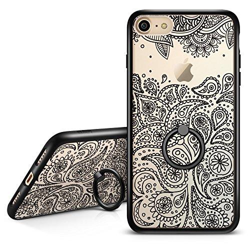 ESR iPhone 7 Hülle (4,7 Zoll), Hybrid Hülle Muster Kickstand, iPhone 7 Bumper Case [Weiche TPU Rahmen + Hart PC Rückdeckel] mit Ring Schutzhülle für iPhone 7 (Paisley)