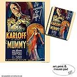 Set Regalo: 1 Póster Impresión Artística (50x40 cm) + 1 Alfombrilla Para Ratón (23x19 cm) - La Momia, Revive De Nuevo, 1932