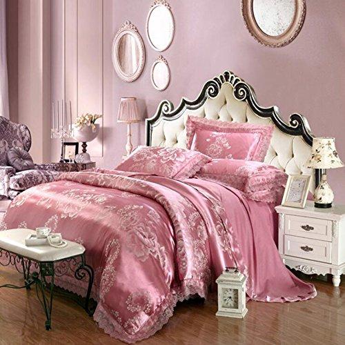 Il nuovo stile europeo, raso jacquard biancheria da letto una famiglia di quattro,adatto size 1.5m, 1.8m