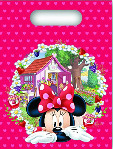 Unique Party Supplies Jam verpackt Disney Minnie Mouse Partytüten, 6 Stück (Kind Supplies Minnie Party)