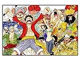 CoolChange Puzzle de One Piece, 1000 pièces, Motiv: L'équipage des Chapeaux de...