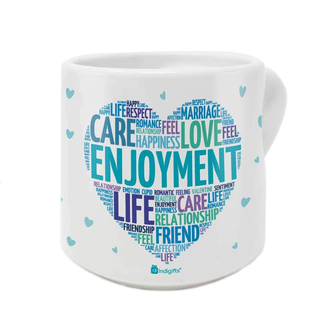 Indigifts Valentine Day Gift Love Care Romance Quote Printed White