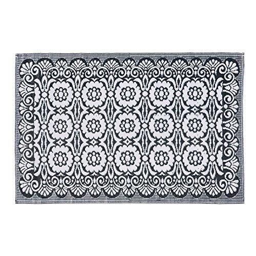 LOBERON Teppich Adelais, LxB ca. 180x120 cm, grau/weiß, Polypropylen, hochwertige Qualität, Vintage-Stil