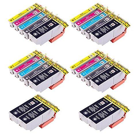 PerfectPrint Compatible Encre Cartouche Remplacement Pour Epson XP-510 XP-520 XP-600 XP-605 XP-610 XP-615 XP-620 XP-625 XP-700 XP-710 XP-720 XP-800 (Noir/ Photo-Noir/Cyan/Magenta/Jaune, 24-Pack)
