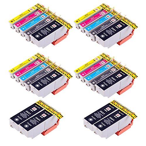 PerfectPrint Compatible Tinta Cartucho Reemplazo Para Epson XP-510 XP-520 XP-600 XP-605 XP-610 XP-615 XP-620 XP-625 XP-700 XP-710 XP-720 XP-800 26XL (Negro/Foto-Negro/Cian/Magenta/Amarillo, 24-Pack)