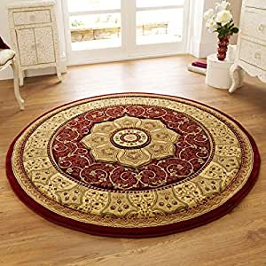 Think rugs tappeto heritage 4400 tradizionale rotondo - Tappeto rotondo rosso ...