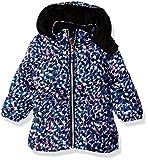 Pink Platinum Baby Girls Colorful Cheetah Puffer, Blue, 12M