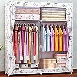 N&B Tragbare Schrank veranstalter kleiderschrank Schrank 2 ablagen,Schnell und Einfach zu Montieren,Zusätzlichen Platz-B 168x130x46cm(66x51x18)