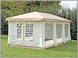 Pavillon 3x6m De Luxe Polyester Braun Partyzelt 6x3m Verkaufszelt wasserdicht