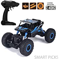 Smart Picks Rechargeable 4wd Rally Car Rock Crawler R/C Monster Truck (Blue)