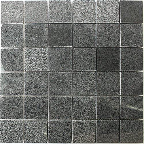 Granit Mosaik Fliesen Anthrazit -