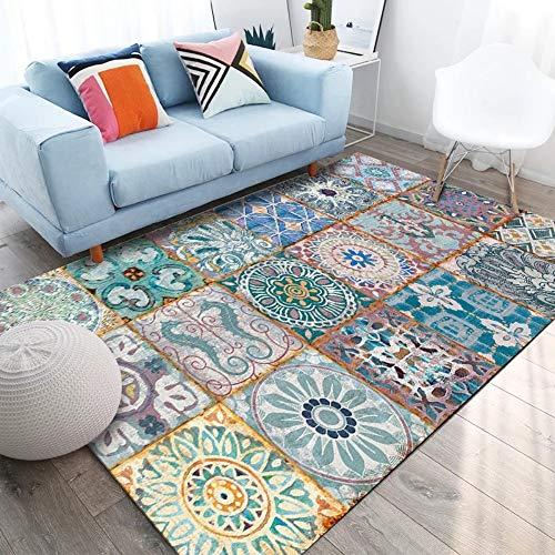 Alfombras y alfombras de Estilo geométrico clásico Junto a la Cama Sala de Estar Estera del Piso Mesa de Centro Sofá Manta del Dormitorio Alfombra Grande y alfombras, 80 × 120 cm
