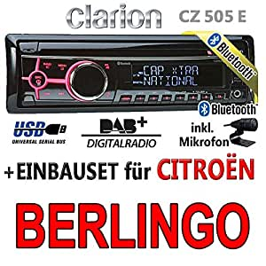 citroen berlingo clarion cz505e bluetooth dab. Black Bedroom Furniture Sets. Home Design Ideas
