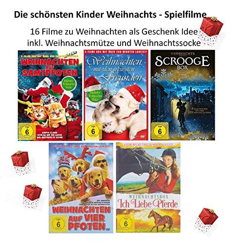 Die schönsten Kinder Weihnachtsfilme ( 16 Filme - Die Geschenk Idee incl. Weihnachtsmütze und Socke ) [5 DVDs]