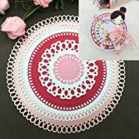 Circle Frame Metal Cutting Dies DIY Scrapbooking Embossing Paper Cards Stencil - Silver by Lai-LYQ