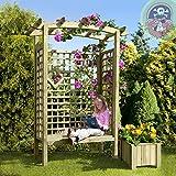 Gartenbank Holz Pergolensitz Arkaden-Gartensitz Gartenlaube von Gartenpirat®