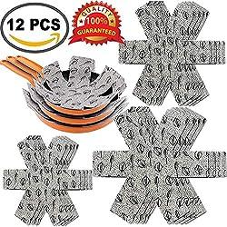 Poêle et pot protecteurs 12pcs Feutre rembourré Imprimé Premium Coussinets d'intercalaire séparé et protéger les surfaces de votre cuisine pour éviter les rayures par Xutong