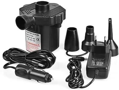 Meubles Pompe Electrique,DC12V//AC220V Gonfleur//D/égonfleur Electrique Voiture Lit Bateau Pompe Matelas avec 3 Buses pour Camping