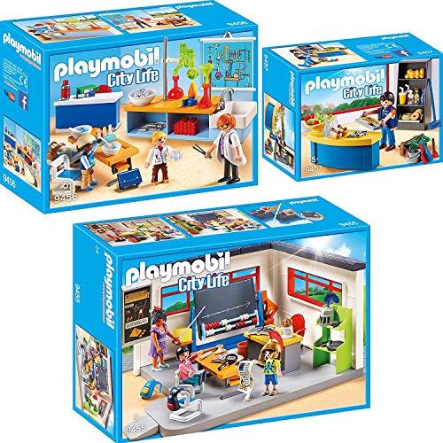 Playmobil City Life Set en 3 Parties 9455 9456 9457 Salle de Classe...