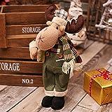Wuchance muñecas navideñas Figura de muñeco de Nieve Grande Santa Juguetes para Decoraciones navideñas (Color : 02)