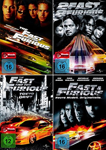The Fast and the Furious 1 + 2 + 3 + 4 Collection (4-DVD)