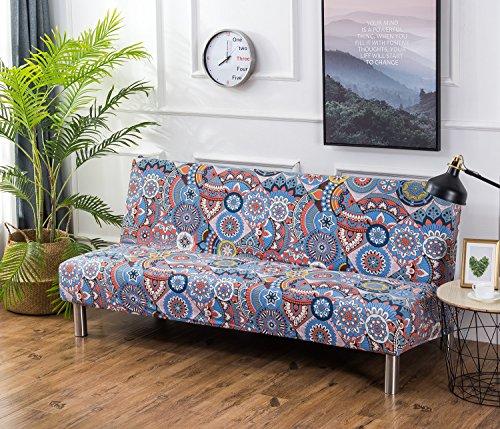 Cornasee copridivano senza braccioli 3 posti,clic clac fodera copridivano elastico di stampa floreale per divano letto