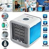 Mobiles Klimageräte Luftkühler Ventilator Air Cooler Mini Klimagerät ohne Abluftschlauch für Büro, zu Hause, Camping usw