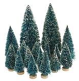VBS Großhandelspackung 16tlg. Mini-Tannenbäume Miniatur Baum Set beschneit