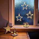 LED Stern Fensterdeko Weihnachtsdeko Timer Ba...Vergleich
