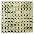 Full Set of Scrabble Tiles (100 tiles) - Black Letters on Ivory Plastic Tiles - Replacement, Crafts, Scrapbooking and Jewellery