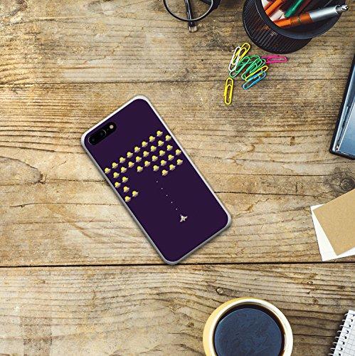 iPhone 7 Plus Hülle, WoowCase® [Hybrid] Handyhülle PC + Silikon für [ iPhone 7 Plus ] Husky-Hunde Sammlung Tier Designs Handytasche Handy Cover Case Schutzhülle - Transparent Housse Gel iPhone 7 Plus Transparent D0402