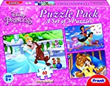 #4: Frank Disney Princess Jigsaw Puzzle Pack- 3 sets of 60 Pcs