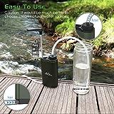 MoKo Wasserfilter Outdoor - Portable Notfall-Personal Camping Wasser Filter Tischwasserfilter mit Starterpaket inklusive Kartuschen für Reise, Wandern und andere Outdoor-Aktivität, BPA Free, Armee Grün. -