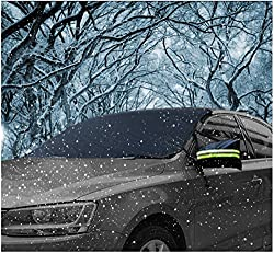 Car Windscreen Frost Cover, Auperto Windscreen Cover Magnetic Car Windshield Protect From Sun, Ice, Frost & Snow All Weather Shield Screen Cover 148*80cm 58*32in