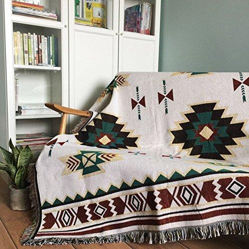 JiaQi Universal-sitzer,Haustier Abdeckung für Couch,Möbel-Protector für 1 2 3 4 Kissen Sofa Schmutzabweisend Sofa slipcover Staubschutz Sofa-Überwürfe,Aus Stoff-D 160x210cm(63x83inch)