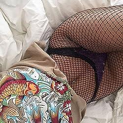 SKY Medias de mujer Medias elásticas de muslo negro Medias altas Medias de pantyhose (B)