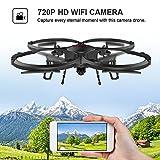 Drone con FPV WIFI versión U818A con cámara HD de 720P de vídeo en tiempo real Quadcopter RC con modo sin mando - Control fácil para principiantes