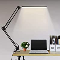 Lampe de Bureau LED Lampe de Table Architecte Pliable avec Clamp, Luminosité infinie réglable, Lampe de table dimmable…