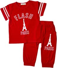 Kidofash Premium Quality Soft Cotton Sleepsuit Sleepware Top Bottom Sets for Baby Boys and Girls for Spring and Summer Season (for 1 to 5 Years Old)
